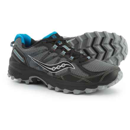 Saucony Grid Excursion TR11 Trail Running Shoes (For Men) in Black/Blue - Closeouts