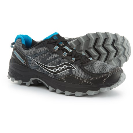 Saucony Grid Excursion TR11 Trail Running Shoes (For Men) in Black/Blue