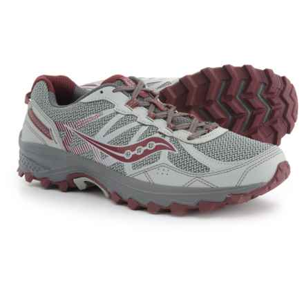Saucony Grid Excursion TR11 Trail Running Shoes (For Men) in Grey/Burgundy - Closeouts
