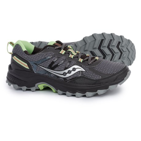 Saucony Grid Excursion TR11 Trail Running Shoes (For Women) in Black/Lime