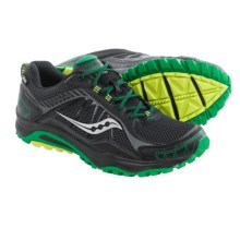 Saucony Grid Excursion TR9 Gore-Tex® Trail Running Shoes (For Men) in Black/Green/Citron - Closeouts