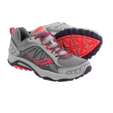Saucony Grid Excursion TR9 Trail Running Shoes (For Women) in Grey/Plum/Coral - Closeouts