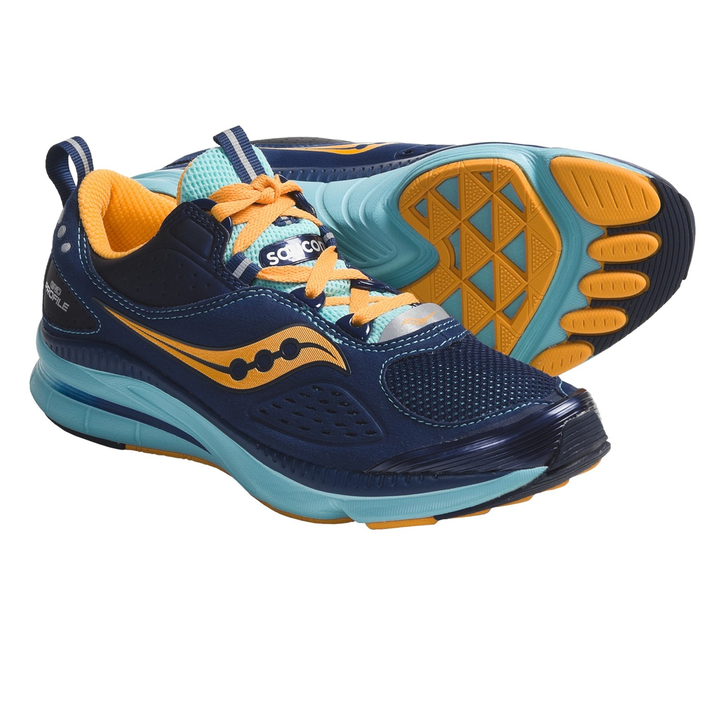 Saucony Grid Profile Running Shoes (For Women) in Navy/Aqua/Orange