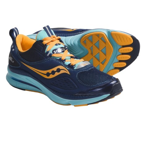 Saucony Grid Profile Running Shoes (For Women) in Navy/Aqua/Orange