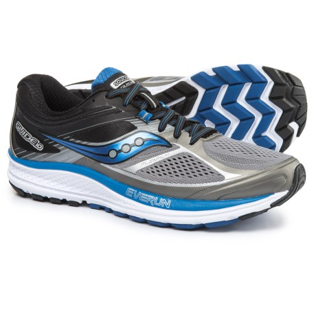 Saucony Guide 10 Running Shoes (For Men) in Grey/Black/Blue