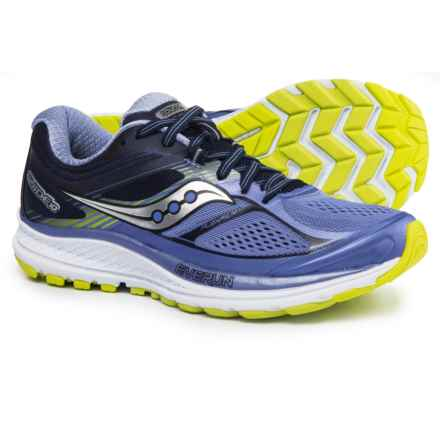 Saucony Guide 10 Running Shoes (For Women) in Purple/Navy/Citron - Closeouts