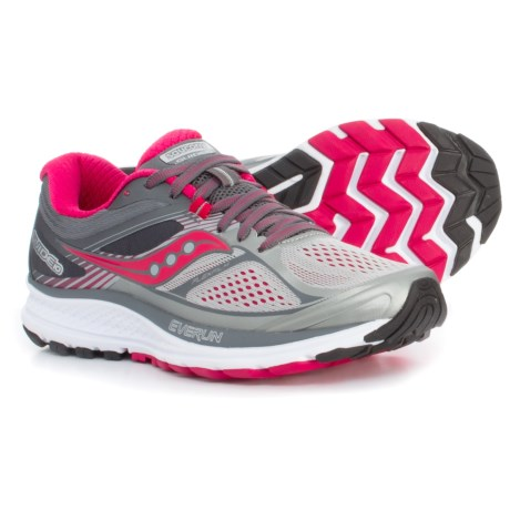 Saucony Guide 10 Running Shoes (For Women) in Silver/Berry