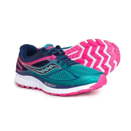 Saucony Guide 10 Running Shoes (For Women) in Tea/Navy/Pink