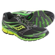 Saucony Guide 8 Running Shoes (For Men) in Black/Slime/Citron - Closeouts