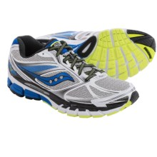 Saucony Guide 8 Running Shoes (For Men) in White/Blue/Citron - Closeouts