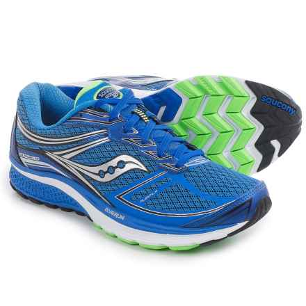 Saucony Guide 9 Running Shoes (For Men) in Blue/Slime/Black - Closeouts