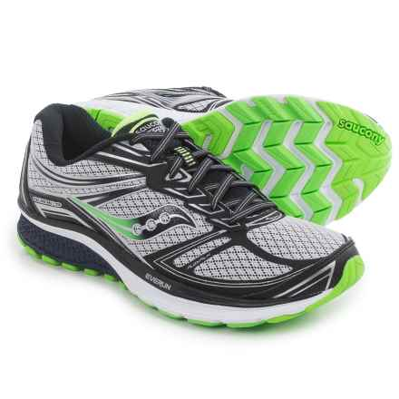 Saucony Guide 9 Running Shoes (For Men) in Grey/Navy/Slime - Closeouts