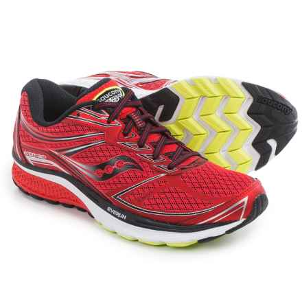 Saucony Guide 9 Running Shoes (For Men) in Red/Black/Silver - Closeouts
