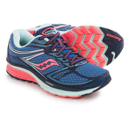 Saucony Guide 9 Running Shoes (For Women) in Cobalt/Coral/Blue - Closeouts
