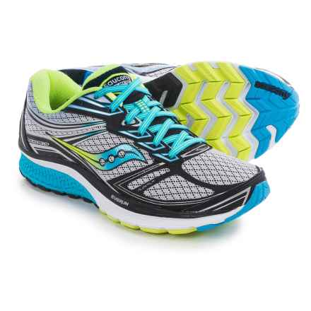 Saucony Guide 9 Running Shoes (For Women) in Grey/Blue/Citron - Closeouts