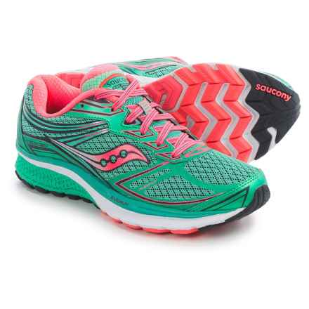 Saucony Guide 9 Running Shoes (For Women) in Teal/Vizi Coral - Closeouts
