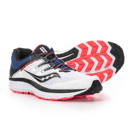 Saucony Guide ISO Running Shoes (For Men) in White/Blue/Vizi Red - Closeouts