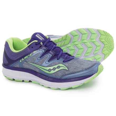 Saucony Guide ISO Running Shoes (For Women) in Fog/Purple/Mint - Closeouts