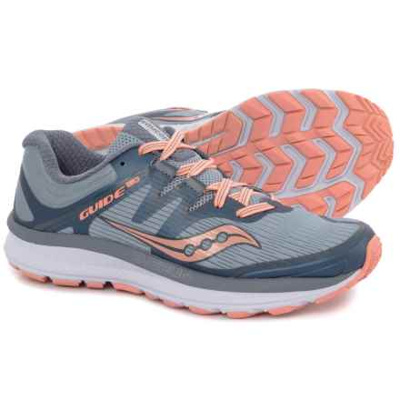 Saucony Guide ISO Running Shoes (For Women) in Slate/Peach - Closeouts