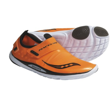 Saucony Hattori Minimalist Running Shoes (For Men) in Vizipro Orange/Black