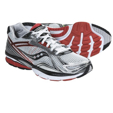 Saucony Hurricane 14 Running Shoes (For Men) in White/Black/Red