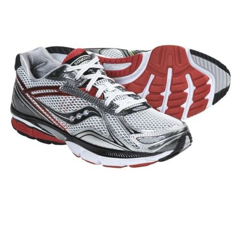 Saucony Hurricane 14 Running Shoes (For Men) in White/Black/Red