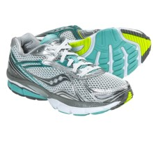 Saucony Hurricane 14 Running Shoes (For Women) in White/Grey/Light Blue - Closeouts