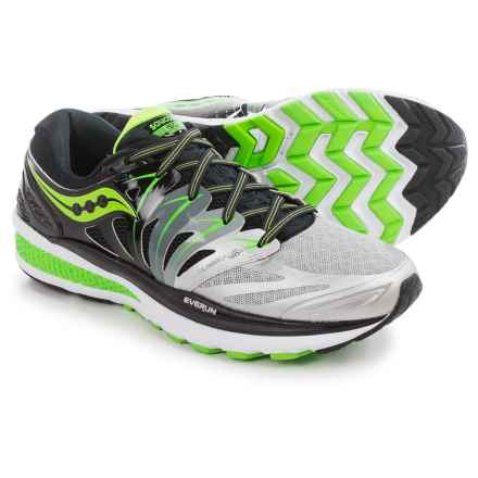 Saucony Hurricane ISO 2 Running Shoes (For Men) in Black/Silver/Slime - Closeouts
