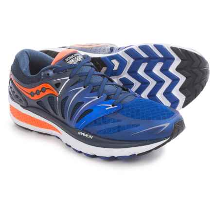 Saucony Hurricane ISO 2 Running Shoes (For Men) in Navy/Blue/Orange - Closeouts