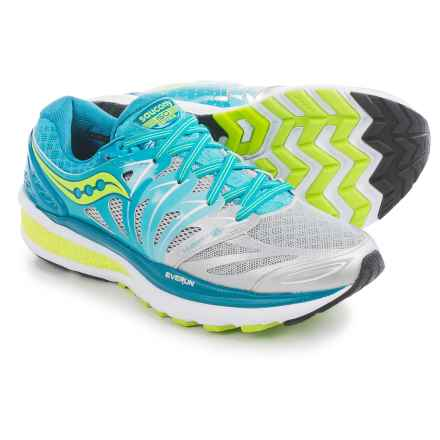 Saucony Hurricane ISO 2 Running Shoes (For Women) in Blue/Silver/Citron - Closeouts