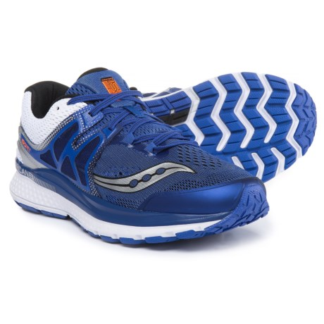 Saucony Hurricane ISO 3 Running Shoes (For Men) in Blue/White/Silver