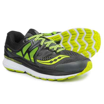 Saucony Hurricane ISO 3 Running Shoes (For Men) in Grey/Black/Citron - Closeouts