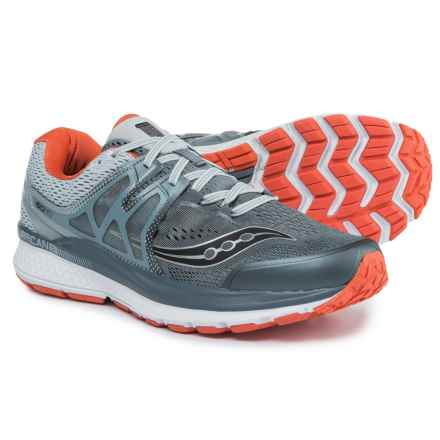 Saucony Hurricane ISO 3 Running Shoes (For Men) in Grey/Blue/Red - Closeouts