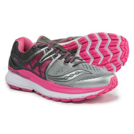 Saucony Hurricane ISO 3 Running Shoes (For Women) in Grey/Pink/White - Closeouts