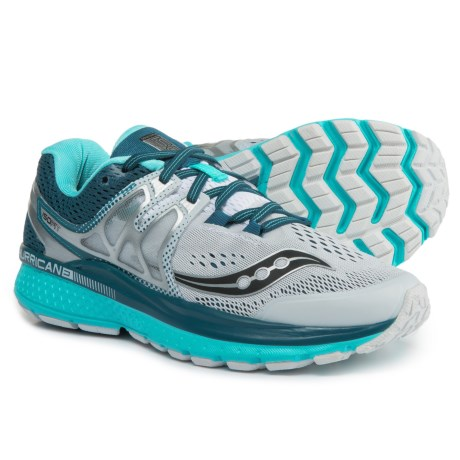 Saucony Hurricane ISO 3 Running Shoes (For Women) in White/Teal