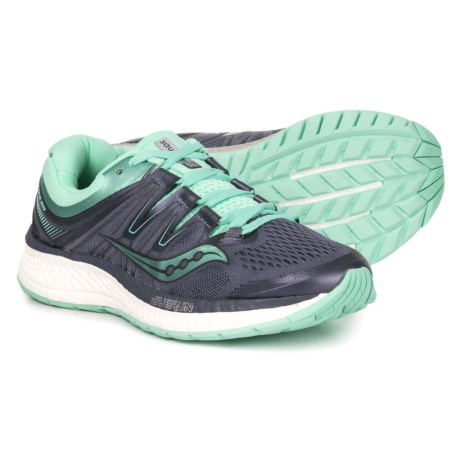 b16839e0 Saucony Hurricane ISO 4 Running Shoes (For Women) in Grey/Aqua
