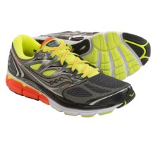 Saucony Hurricane ISO Running Shoes (For Men) in Grey/Citron/Orange - Closeouts