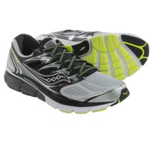 Saucony Hurricane ISO Running Shoes (For Men) in Silver/Black/Citron - Closeouts