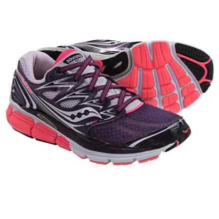 Saucony Hurricane ISO Running Shoes (For Women) in Purple/Coral/Lavender - Closeouts