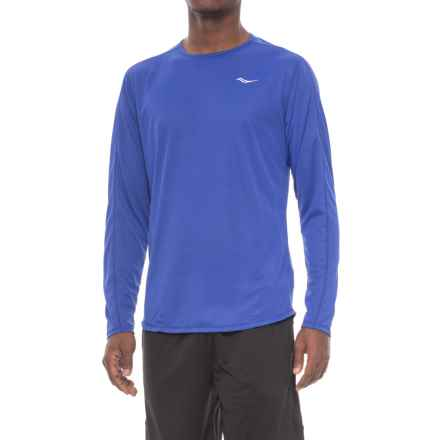 Saucony Hydralite Shirt - Long Sleeve (For Men) in Lakeside - Closeouts