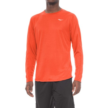 Saucony Hydralite Shirt - Long Sleeve (For Men) in Persimmon