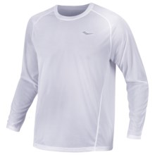 Saucony Hydralite Shirt - Long Sleeve (For Men) in White - Closeouts