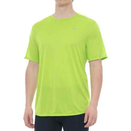 Saucony Hydralite Shirt - Short Sleeve (For Men) in Chartreuse - Closeouts