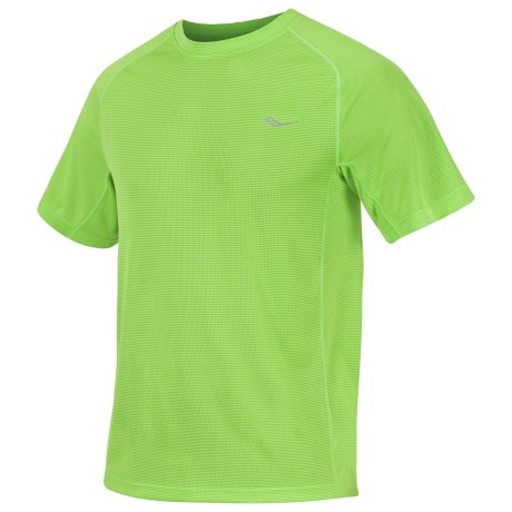 Saucony Hydralite T-Shirt - Recycled Materials, Short Sleeve (For Men) in Acid Green