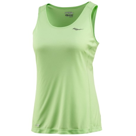 Saucony Hydralite Tank Top - Recycled Materials (For Women) in Fresh Mint