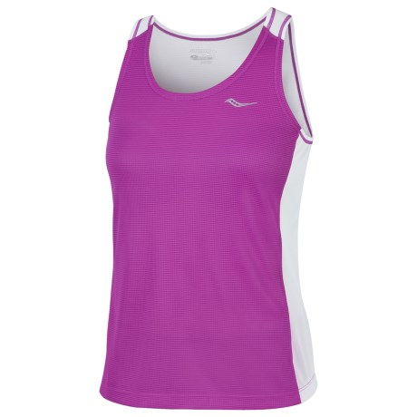 Saucony Hydralite Tank Top - Recycled Materials (For Women) in Passion Purple/White