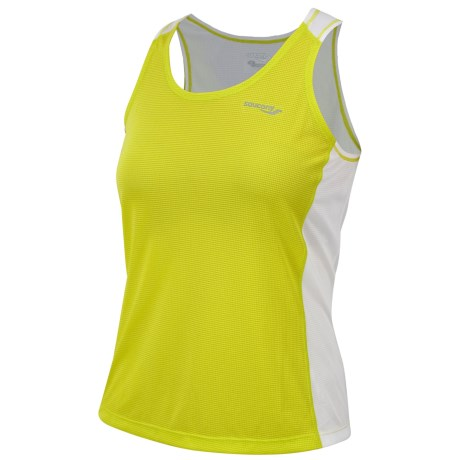 Saucony Hydralite Tank Top - Recycled Materials (For Women) in Sipher/White