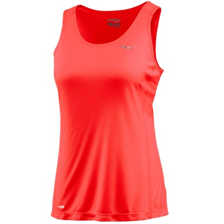 Saucony Hydralite Tank Top - Recycled Materials (For Women) in Vizipro Electric
