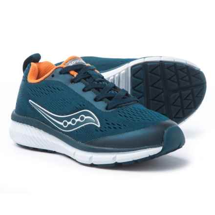 Saucony Ideal Running Shoes (For Boys) in Navy/Orange - Closeouts