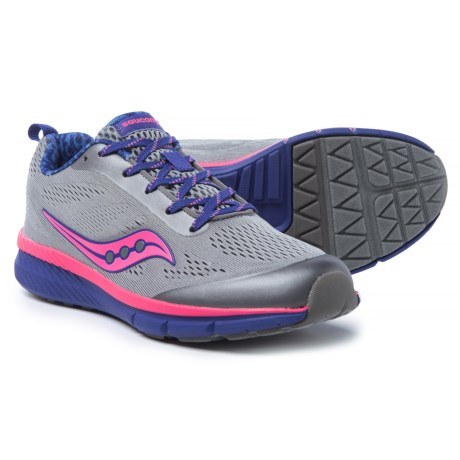 Saucony Ideal Running Shoes - Lace-Ups (For Girls) in Grey/Multi